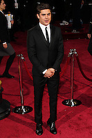 HOLLYWOOD, CA, USA - MARCH 02: Zac Efron at the 86th Annual Academy Awards held at Dolby Theatre on March 2, 2014 in Hollywood, Los Angeles, California, United States. (Photo by Xavier Collin/Celebrity Monitor)
