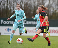20171123 - TUBIZE , BELGIUM : Belgian Lenie Onzia pictured during a friendly game between the women teams of the Belgian Red Flames and Russia at complex Euro 2000 in Tubize , Thursday  23 October 2017 ,  PHOTO Dirk Vuylsteke | Sportpix.Be