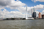 Erasmusbrug, Erasmus Bridge, spanning the River Maas, Rotterdam, Nethrlands