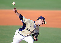 Florida International University right handed pitcher John Caballero (45) plays against Florida Gulf Coast University. FIU won the game 10-3 on March 28, 2012 at Miami, Florida.