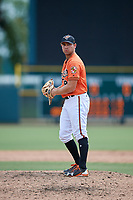 Baltimore Orioles pitcher Colin Woody (84) gets ready to deliver a pitch during a Florida Instructional League game against the Philadelphia Phillies on October 4, 2018 at Ed Smith Stadium in Sarasota, Florida.  (Mike Janes/Four Seam Images)