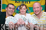 TICKETS: Members of the Kieran Cahillane Memorial Committee who have organised a draw for two All-Ireland Final tickets and accommodation in the Arlington Hotel, Dublin, in aid of Killarney Water Rescue. To enter write your name on a five euro note and drop it into Jades Bar, Killarney.