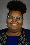 Angelica Chestleigh, Internship and Scholarship Coordinator, Steans Center, Academic Affairs, DePaul University, is pictured Feb. 27, 2018. (DePaul University/Jeff Carrion)