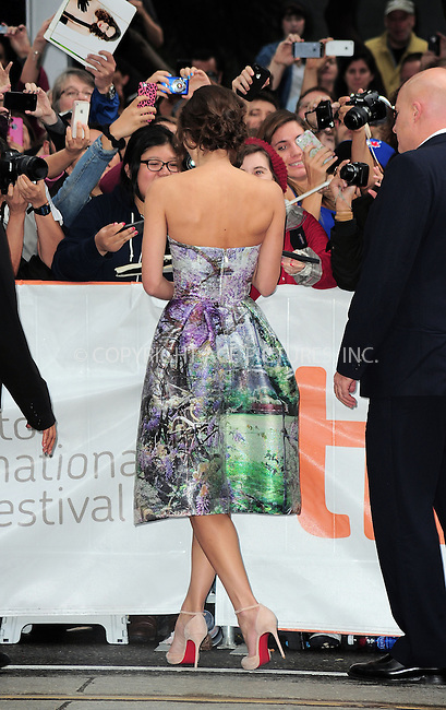 WWW.ACEPIXS.COM<br /> <br /> September 7 2013, Toronto<br /> <br /> Actress Keira Knightley arriving at the 'Can A Song Save Your Life?' premiere during the 2013 Toronto International Film Festival at Princess of Wales Theatre on September 7, 2013 in Toronto, Canada.<br /> <br /> By Line: William Bernard/ACE Pictures<br /> <br /> <br /> ACE Pictures, Inc.<br /> tel: 646 769 0430<br /> Email: info@acepixs.com<br /> www.acepixs.com