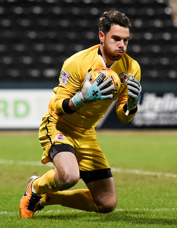 Crawley Town&rsquo;s Glenn Morris makes a save<br /> <br /> Photographer Jon Hobley/CameraSport<br /> <br /> The EFL Sky Bet League Two - Notts County v Crawley Town - Tuesday 23rd January 2018 - Meadow Lane - Nottingham<br /> <br /> World Copyright &copy; 2018 CameraSport. All rights reserved. 43 Linden Ave. Countesthorpe. Leicester. England. LE8 5PG - Tel: +44 (0) 116 277 4147 - admin@camerasport.com - www.camerasport.com
