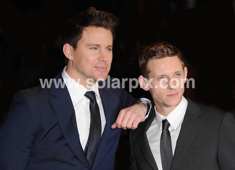 **ALL ROUND PICTURES FROM SOLARPIX.COM**                                             **WORLDWIDE SYNDICATION RIGHTS**                                                                                  Caption: Red carpet arrivals at the UK premiere of The Eagle.  Held at The Empire, Leicester Square, London                                                                              This pic:   Channing Tatum & Jamie Bell                                                                                           JOB REF:  12942      SSD       DATE: 09.03.2011                                                           **MUST CREDIT SOLARPIX.COM OR DOUBLE FEE WILL BE CHARGED**                                                                      **MUST AGREE FEE BEFORE ONLINE USAGE**                               **CALL US ON: +34 952 811 768 or LOW RATE FROM UK 0844 617 7637**