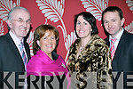 BIG NIGHT OUT: Enjoying themselves at the Irish Creamery Milk Suppliers Association Social held in Ballyroe Heights Hotel on Friday night were l-r: Joe and Mairead Moriarty, Laharn, Killorglin, and Eileen and Pat Buckley, Duagh, Listowel.   Copyright Kerry's Eye 2008
