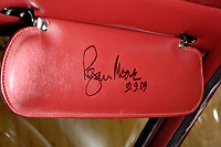 BNPS.co.uk (01202 558833)<br /> Pic: Historics/BNPS<br /> <br /> Roger Moore signed the visor when he was reunited with the car in 2009.<br /> <br /> Live and Let Buy...<br /> <br /> An incredibly rare Lamborghini driven by Sir Roger Moore in his favourite film role has sold for almost £300,000.<br /> <br /> The silver Islero S racer was built in 1969 as one of just five right-hand drive examples produced by the Italian marque. <br /> <br /> Shortly after leaving the factory it starred in the psychological thriller The Man Who Haunted Himself which featured Moore as Harold Pelham.<br /> <br /> Although the film achieved very little success at the box office, Moore later described it as his favourite role as he 'actually got to act'.<br /> <br /> It went under the hammer with auctioneers Historics of Iver, Bucks.