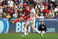 Nottingham Forest's Matty Cash brings the ball under control while under pressure from Swansea City&rsquo;s Declan John<br /> <br /> Photographer Ian Cook/CameraSport<br /> <br /> The EFL Sky Bet Championship - Swansea City v Nottingham Forest - Saturday 15th September 2018 - Liberty Stadium - Swansea<br /> <br /> World Copyright &copy; 2018 CameraSport. All rights reserved. 43 Linden Ave. Countesthorpe. Leicester. England. LE8 5PG - Tel: +44 (0) 116 277 4147 - admin@camerasport.com - www.camerasport.com