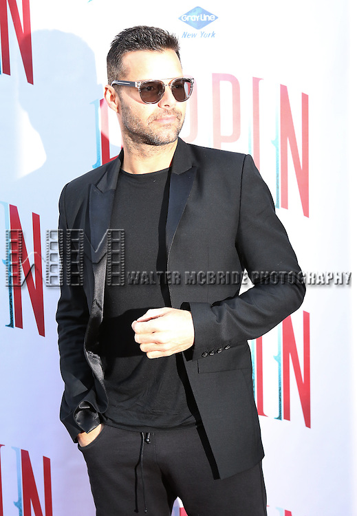 Ricky Martin  attending the  Broadway Opening Night Performance of 'Pippin' at the Music Box Theatre in New York City on 4/25/2013