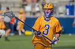 Costa Mesa, CA 03/08/14 - Matt Hirning (UCSB #3) in action during the MCLA Loyola Marymount vs UC Santa Barbara men's lacrosse game as part of the 2014 Pacific Shootout.  UCSB defeated LMU 12-7 at Le Bard Stadium.