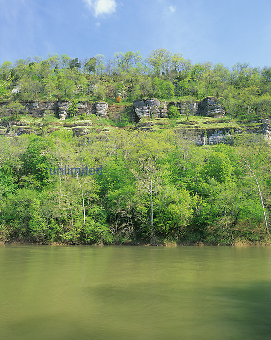 Palisades along the Kentucky River, central Bluegrass region of Kentucky, USA..