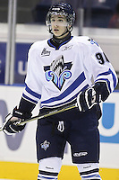 QMJHL (LHJMQ) hockey profile photo on Rimouski Oceanic Jasmin Boutet October 6, 2012 at the Colisee Pepsi in Quebec city.