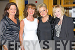 Bobbi O'Halloran, Deirdre Durran, Suzanne Cahillane and Siobhan Bradley, attending the fashion show in aid of the Motor Neurone Disease Association and the Palliative Care Unit at Kerry General Hospital, held in the Brandon Hotel on Saturday evening.