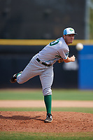 Daytona Tortugas relief pitcher Jesse Stallings (40) delivers a pitch during a game against the Dunedin Blue Jays on April 22, 2018 at Dunedin Stadium in Dunedin, Florida.  Daytona defeated Dunedin 5-1.  (Mike Janes/Four Seam Images)