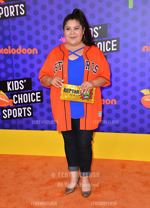 Raini Rodriguez at the Nickelodeon Kids' Choice Sports Awards 2018 at Barker Hangar, Santa Monica, USA 19 July 2018<br /> Picture: Paul Smith/Featureflash/SilverHub 0208 004 5359 sales@silverhubmedia.com