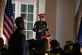 The Presidents Own United States Marine band preforms for U.S. President Donald Trump and First Lady Melania Trump , as they welcome Australian Prime Minister Scott Morrison and Mrs. Morrison to the White House in Washington for a state dinner September 20, 2019. Photo by Tasos Katopodis/ABACAPRESS.COM<br /> Credit: Tasos Katopodis / Pool via CNP