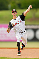 Kannapolis Intimidators starting pitcher Scott Snodgress #37 in action against the Lexington Legends at CMC-Northeast Stadium on May 18, 2012 in Kannapolis, North Carolina.  The Legends defeated the Intimidators 7-3.  (Brian Westerholt/Four Seam Images)