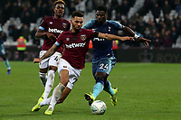 Ryan Fredericks of West Ham United and Serge Aurier of Tottenham Hotspur during West Ham United vs Tottenham Hotspur, Caraboa Cup Football at The London Stadium on 31st October 2018