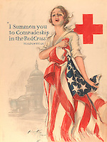 """""""I Summon You to Comradeship in the Red Cross"""" by Harrison Fisher (American, Brooklyn, New York 1877–1934 New York) (The Metropolitan Museum of Art)"""