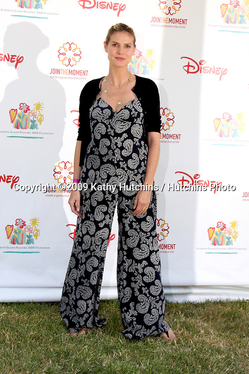 """Heidi Klum  arriving at the """"A Time For Heroes Celebrity Carnival"""" benefiting the Elizabeth Glaser Pediatrics AIDS Foundation at the Wadsworth Theater Grounds in Westwood , CA on June 7, 2009 .©2009 Kathy Hutchins / Hutchins Photo.."""