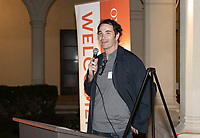 John Keister '89<br /> Now in his 30th year as Oxy's head men's basketball coach, Brian Newhall received a much deserved celebration with a surprise halftime ceremony and post game reception in the Booth Hall courtyard with more than 70 former and current players from all different generations and decades in attendance, on Saturday, Jan. 26, 2019.<br /> Newhall is the winningest coach in Oxy history and has a 100 percent graduation rate in his 30 years at the helm of the program. His resume boasts multiple SCIAC Championships and NCAA Playoff appearances, along with a run to the NCAA Division III Elite Eight in 2003 and the only perfect 14-0 season in SCIAC history. Newhall has not only coached at Oxy, but was a SCIAC Champion and SCIAC Player of the Year during his playing career at Oxy in the early 80s.<br /> (Photo by Marc Campos, Occidental College Photographer)