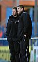 John Mousinho and Stacy Long of Stevenage discuss tactics.Rochdale v Stevenage - npower League 1 - Spotland, Rochdale - 14th January, 2012.© Kevin Coleman 2012