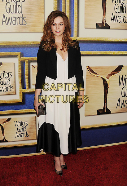 LOS ANGELES, CA- FEBRUARY 01: Actress Amber Tamblyn arrives at the 2014 Writers Guild Awards L.A. Ceremony at JW Marriott Los Angeles at L.A. LIVE on February 1, 2014 in Los Angeles, California.<br /> CAP/ROT/TM<br /> &copy;Tony Michaels/Roth Stock/Capital Pictures