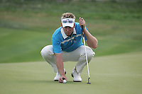 Ian Poulter lines up his putt on the 17th hole in Saturday fourballs at the 37th Ryder Cup at Valhalla Golf Club, Louisville, Kentucky, USA - 20th September 2008 (Photo by Manus O'Reilly/GOLFFILE)