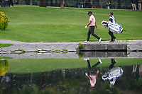 Shubhankar Sharma (IND) makes his way across he bridge on 6 during round 3 of the World Golf Championships, Mexico, Club De Golf Chapultepec, Mexico City, Mexico. 2/23/2019.<br /> Picture: Golffile | Ken Murray<br /> <br /> <br /> All photo usage must carry mandatory copyright credit (© Golffile | Ken Murray)