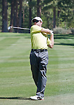 August 3, 2012: Gary Christian from Carshalton, England hits an approach shot on the 13th fairway during the second round of the 2012 Reno-Tahoe Open Golf Tournament at Montreux Golf & Country Club in Reno, Nevada.