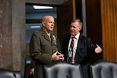 Commandant of the Marine Corps General David Berger arrives to testify before the United States Senate Committee on Armed Services at the U.S. Capitol in Washington D.C., U.S., on Tuesday, December 3, 2019.  The panel discussed reports of substandard housing conditions for U.S. service members. <br /> <br /> Credit: Stefani Reynolds / CNP