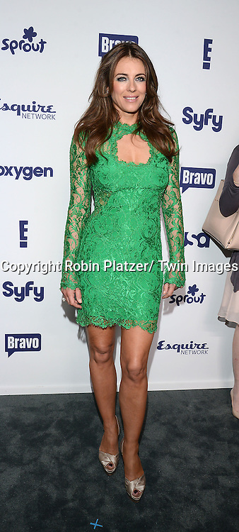 Elizabeth Hurley  of &quot;The Royals&quot; attend the NBCUniversal Cable Entertainment Upfront <br /> on May 15, 2014 at The Javits Center North Hall in New York City, New York, USA.