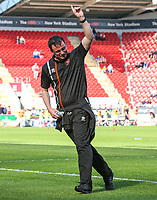 Blackpool manager Gary Bowyer scores a penalty during the warm up<br /> <br /> Photographer Alex Dodd/CameraSport<br /> <br /> The EFL Sky Bet League One - Rotherham United v Blackpool - Saturday 5th May 2018 - New York Stadium - Rotherham<br /> <br /> World Copyright &copy; 2018 CameraSport. All rights reserved. 43 Linden Ave. Countesthorpe. Leicester. England. LE8 5PG - Tel: +44 (0) 116 277 4147 - admin@camerasport.com - www.camerasport.com