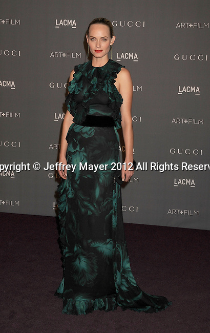 LOS ANGELES, CA - OCTOBER 27: Amber Valletta arrives at LACMA Art + Film Gala at LACMA on October 27, 2012 in Los Angeles, California.
