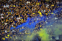 BUENOS AIRES, ARGENTINA, 01 DE MAIO 2013 - TACA LIBERTADORES - BOCA JUNIOR X CORINTHIANS - Torcida do Boca Juniors partida contra Corinthians valida pela Taca Libertadores no Estadio Labomboneira na cidade de Buenos Aires na Argentina. FOTO: JUANI RONCORONI - BRAZIL PHOTO PRESS.