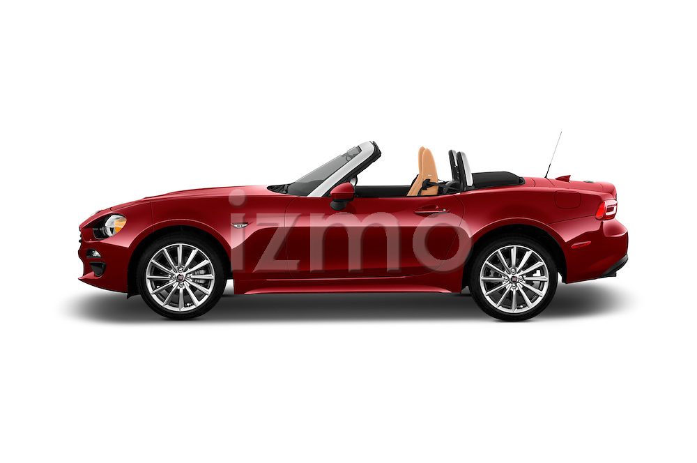 Car Driver side profile view of a 2017 Fiat 124-Spider 1.4-Lusso 2 Door Convertible Side View