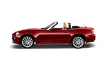 Car Driver side profile view of a 2018 Fiat 124-Spider 1.4-Lusso 2 Door Convertible Side View