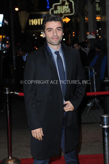 WWW.ACEPIXS.COM <br /> January 6, 2014 New York City<br /> <br /> Oscar Isaac attends the 2013 New York Film Critics Circle Awards Ceremony at The Edison Ballroom on January 6, 2014 in New York City. <br /> <br /> <br /> Please byline: Kristin Callahan  <br /> <br /> ACEPIXS.COM<br /> Ace Pictures, Inc<br /> tel: (212) 243 8787 or (646) 769 0430<br /> e-mail: info@acepixs.com<br /> web: http://www.acepixs.com