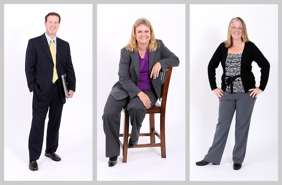 Portrait shoot of employees for Blue Ridge Bank in Charlottesville, VA. Photo/Andrew Shurtleff