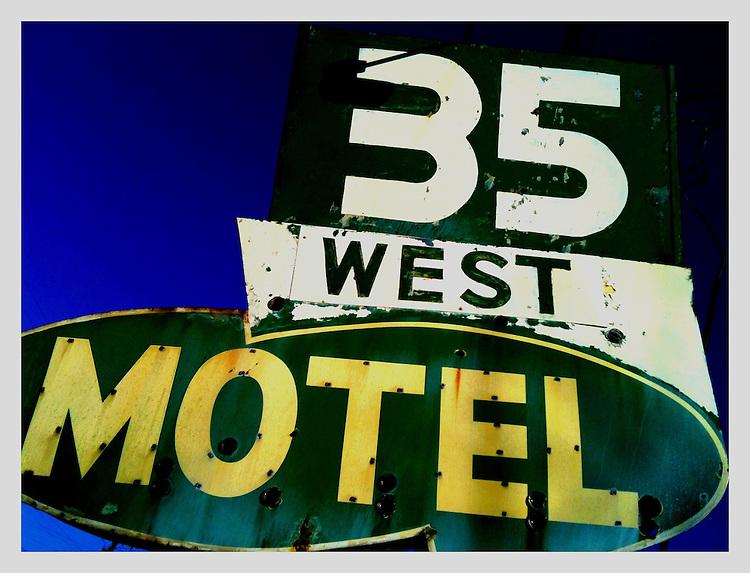 Americana.<br /> <br /> Motel sign, New Lebanon, Ohio.