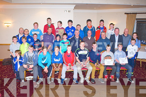 TRALEE PARNELLS: Clare's All Ireland winning goalkeeper Pa Kelly (seated centre) with the Tralee Parnells hurling club at their awards night at the Kerins O'Rahillys clubhouse, Tralee on Friday.