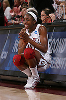STANFORD, CA - MARCH 22:  Nnemkadi Ogwumike of the Stanford Cardinal during Stanford's 96-67 win over Iowa in the second round of the NCAA Women's Basketball Tournament at Maples Pavilion in Stanford, California.