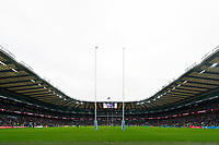 A general view of Twickenham Stadium during the match. Gallagher Premiership match, The Clash, between Bath Rugby and Bristol Rugby on April 6, 2019 at Twickenham Stadium in London, England. Photo by: Patrick Khachfe / Onside Images