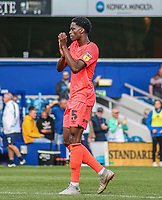 Huddersfield Town's Terence Kongolo applauds the fans at the final whistle <br /> <br /> Luke Brennan/CameraSport<br /> <br /> The EFL Sky Bet Championship - Queens Park Rangers v Huddersfield Town - Saturday 10th August 2019 - Loftus Road - London<br /> <br /> World Copyright © 2019 CameraSport. All rights reserved. 43 Linden Ave. Countesthorpe. Leicester. England. LE8 5PG - Tel: +44 (0) 116 277 4147 - admin@camerasport.com - www.camerasport.com