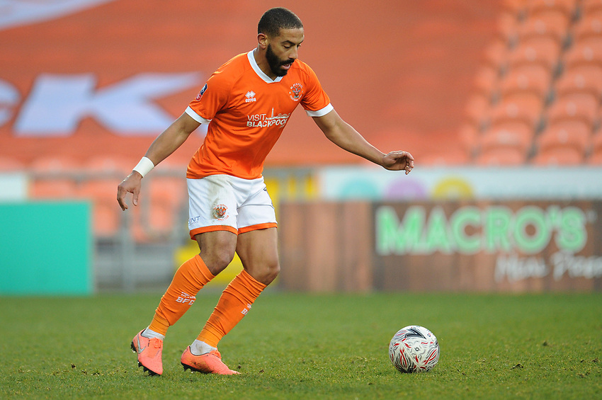Blackpool's Liam Feeney<br /> <br /> Photographer Kevin Barnes/CameraSport<br /> <br /> Emirates FA Cup Second Round - Blackpool v Maidstone United - Sunday 1st December 2019 - Bloomfield Road - Blackpool<br />  <br /> World Copyright © 2019 CameraSport. All rights reserved. 43 Linden Ave. Countesthorpe. Leicester. England. LE8 5PG - Tel: +44 (0) 116 277 4147 - admin@camerasport.com - www.camerasport.com