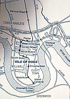 London: Docklands Map--detail.  Reference only.