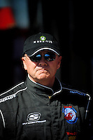 Feb 07, 2009; Daytona Beach, FL, USA; NASCAR Sprint Cup Series driver Geoff Bodine during practice for the Daytona 500 at Daytona International Speedway. Mandatory Credit: Mark J. Rebilas-