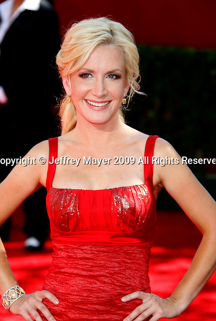 LOS ANGELES, CA. - September 20: Angela Kinsey arrives at the 61st Primetime Emmy Awards held at the Nokia Theatre on September 20, 2009 in Los Angeles, California.