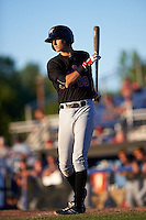 West Virginia Black Bears second baseman Tyler Leffler (59) at bat during a game against the Batavia Muckdogs on June 30, 2016 at Dwyer Stadium in Batavia, New York.  Batavia defeated West Virginia 4-3.  (Mike Janes/Four Seam Images)